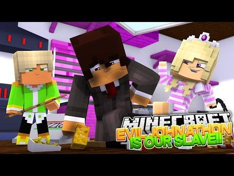Minecraft Adventure - BABY HUGO POISONS EVIL JOHNATHON & MAKES HIM A SLAVE!!