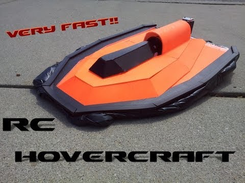 RC Hovercraft (Very Fast) Made From Spare RC Plane Parts