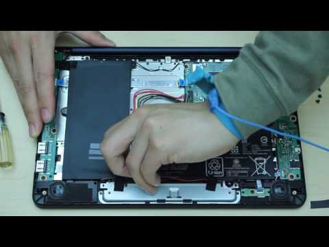 asus x205T laptop disassembly  remove motherboard/battery etc