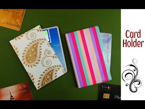 Useful Origami - Paper Credit Card / Business Card Holder - 2 (Easy to make)