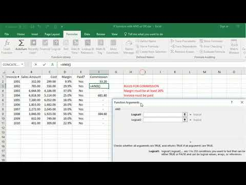 Using AND or OR functions in Excel to allow IF to eveluate multiple conditions