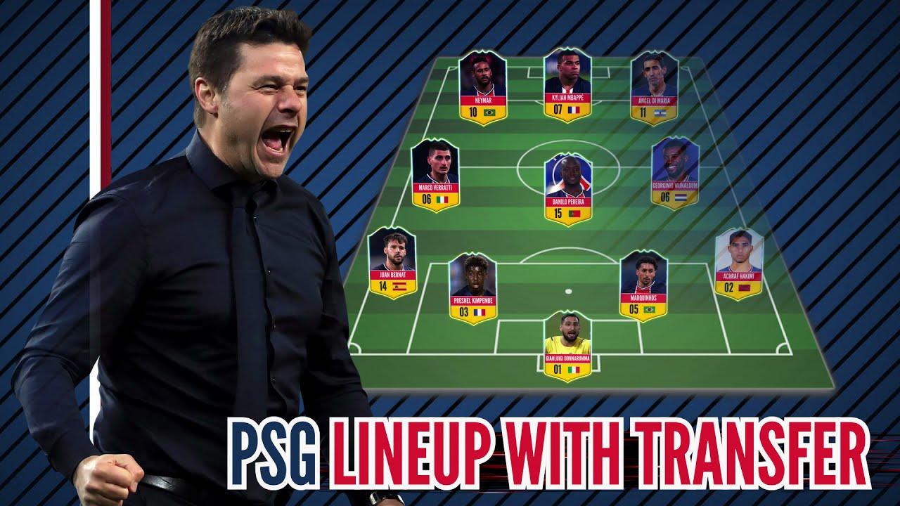 PSG Potential Lineup 21/22 With Transfers ! Feat Achraf Hakimi l Wijnaldum l Donnarumma