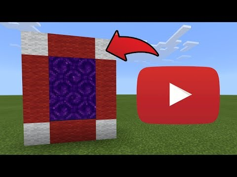 How To Make a Portal to the YouTube Dimension in MCPE (Minecraft PE)