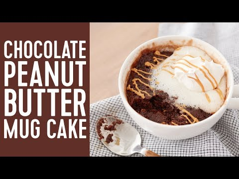 How to Make a Chocolate Peanut Butter Mug Cake