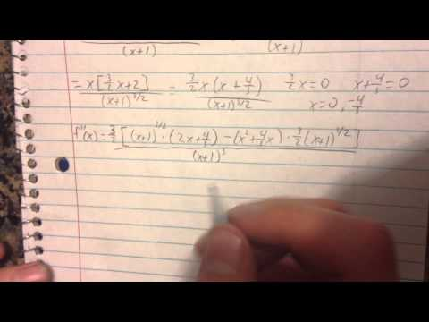 How to use the Second Derivative Test to find all relative extrema of f(x)=x^2/sqrt(x+1)