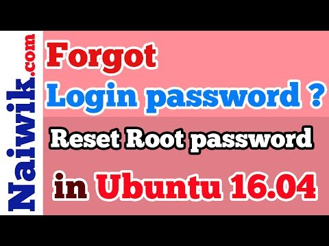 Forgot Ubuntu Login password ? | Reset root password in Ubuntu 14.04 | 16.04
