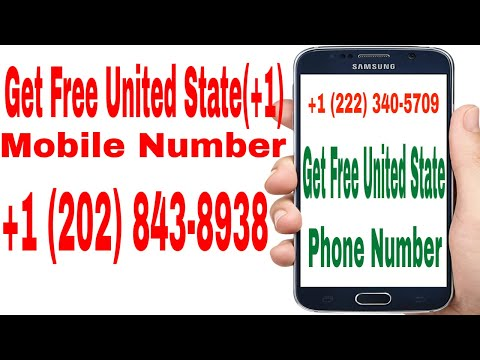 Get  Free United State (+1) & Canada (+1) Mobile Phone Number