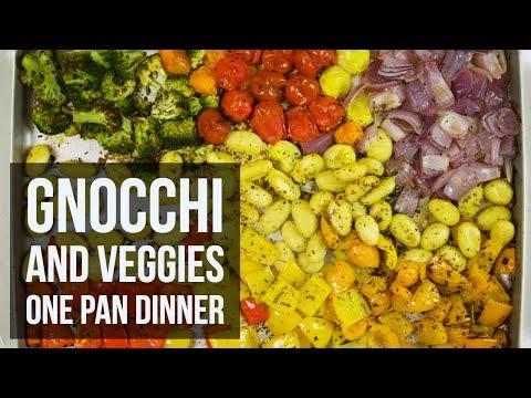 Gnocchi and Veggies One Pan Dinner | Easy Sheet Pan Dinner Recipe by Forkly