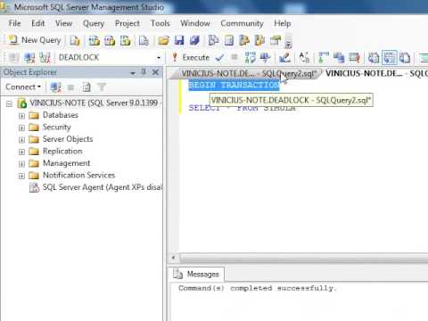 Simulando DeadLock no SQL Server