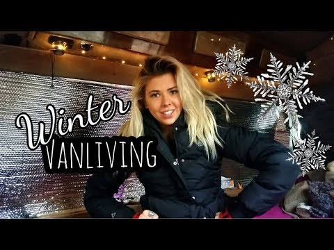 #40 STAYING WARM DURING WINTER LIVING IN A VAN   #INVERSION