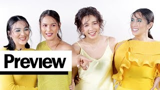 Download The Original Encantadia Sanggres Comment on Their Old Outfit Photos   Outfit Reactions   PREVIEW Video
