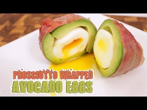 Prosciutto Wrapped Avocado Eggs