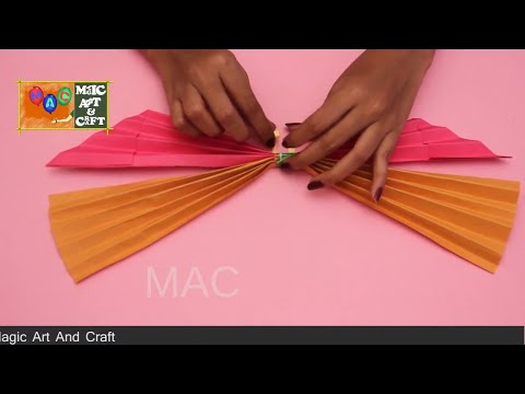 How To Make Big Paper Butterfly Making , Simple Art and Craft For Kids