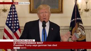 "Virginia Shooting: Trump: ""Guman has died""- BBC News"