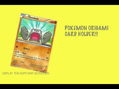 How to Make a Pokemon Card Display Holder - EASY!!!