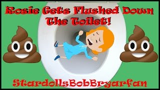 Caillou Flushes Rosie Down The Toilet