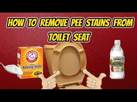 How to remove pee stains from toilet seat