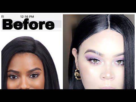 HOW TO MAKE. A CHEAP WIG LOOK GOOD- tutorial