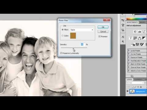 How to get sepia tone in photoshop (photoshop sepia effect tutorial)