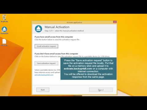 Manual activation for Backup4all (via file save)