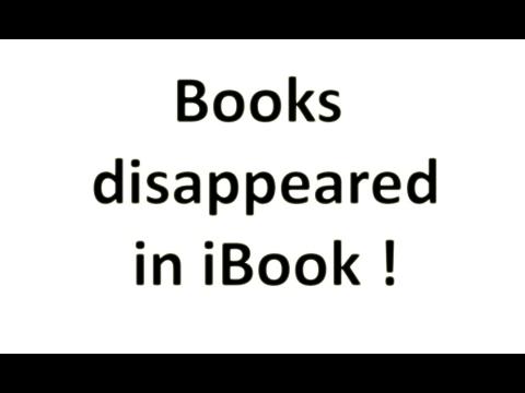 All my books in iBook disappeared - iPhone, iPad, Mac, iPod