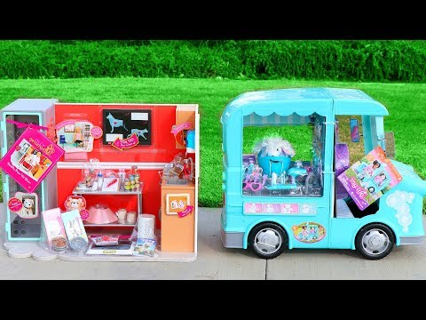Our Generation Doll Vet Clinic or My Life As Pet Mobile Grooming Truck Playset
