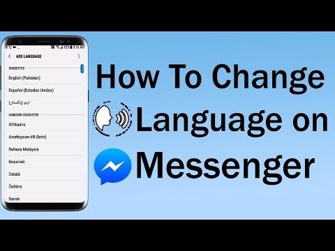 How To Change Language on Messenger