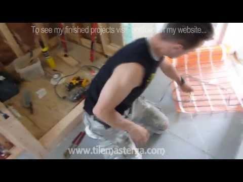 Radiant Heated bathroom  floor installation - How to do it from A to Z   Atlanta GA
