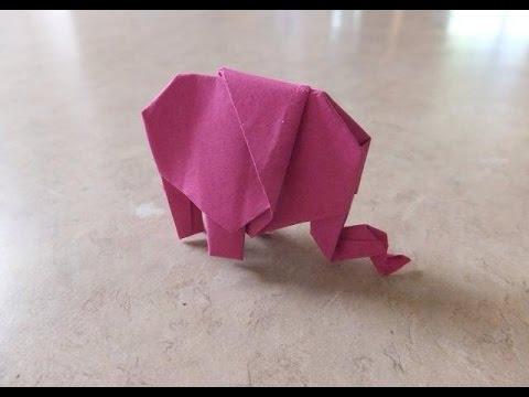Origami Tutorial: Easy Elephant
