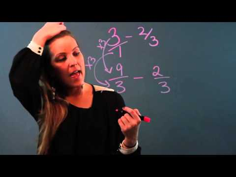 Easy Way of Learning to Subtract Fractions With Whole Numbers
