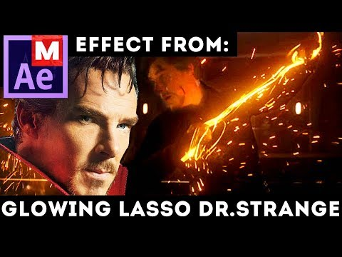 After Effects Tutorial: Glowing Lasso/Rope/Whip from Doctor Strange movie - Weapon - Weapons