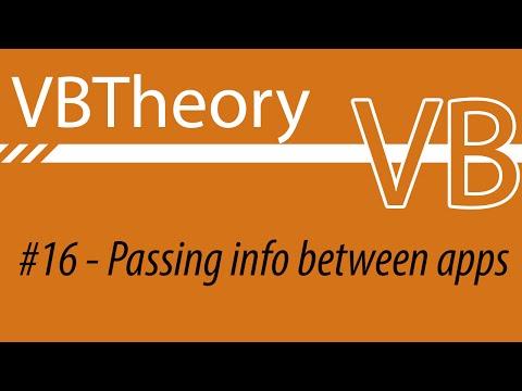 Passing Informations Between Programs - VB#16