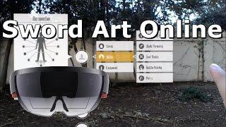SWORD ART ONLINE GUI - AR with HoloLens