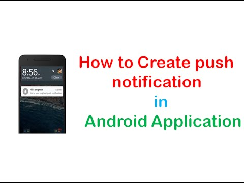How to Create push notification in Android Application   ShoutCafe.com