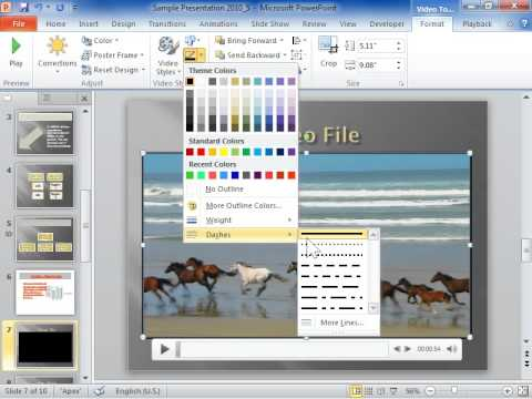 PowerPoint 2010 Change Style of a Border