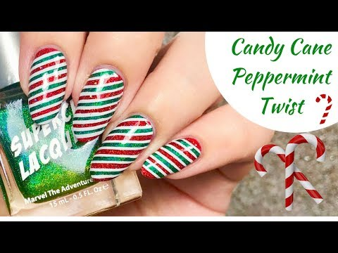 💚 Candy Candy Twist Nail Tutorial | Day 2 of my 12 days of Christmas! ❤️