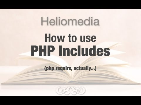 Create a valid HTML 5 template using PHP Includes