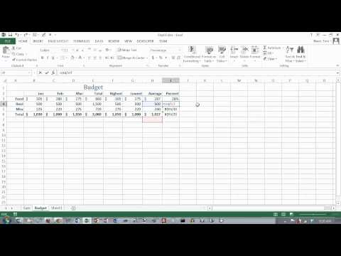 Excel 2013 Formulas 02: Absolute Cell References