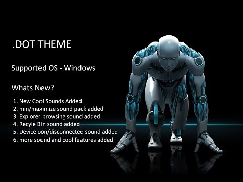 DOT THEME for Windows (Customize your own windows in DOT Style)
