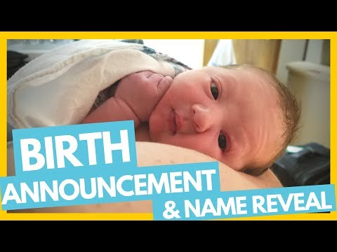 Birth Announcement & Name Reveal 👼🤰Full Time Travel Family