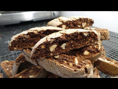 Chocolate Hazelnut Spread Biscotti w Hazelnuts