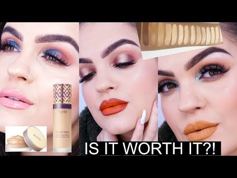 TARTE SHAPE TAPE FOUNDATION CONTROVERSY | FULL FACE Review & Swatches