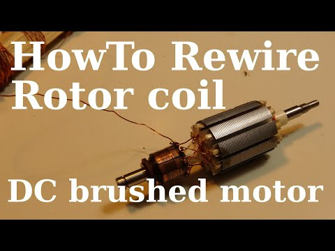 DIY How to Rewire Multiple Poles Rotor - DC brushed motor