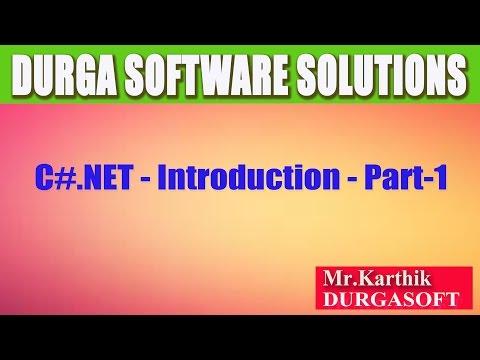 C#.Net - Introduction-Part-1