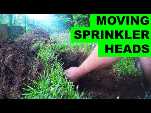 How to move irrigation sprinkler heads