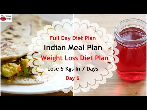 Full Day Indian Meal Plan/Diet Plan For Weight Loss - How To Lose Weight Fast 5 Kgs in 7 Days -Day 6