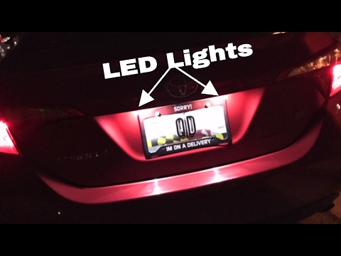 How to change license plate lights on 2014-2017 toyota corolla