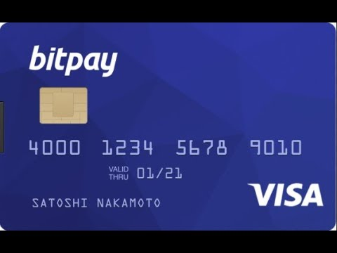Bitpay Bitcoin Visa Card *Activate, Get Pin, Upload Money