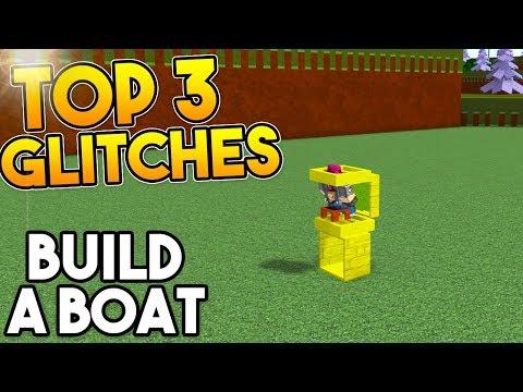 TOP 3 *WORKING GLITCHES*   Build A Boat For Treasure ROBLOX