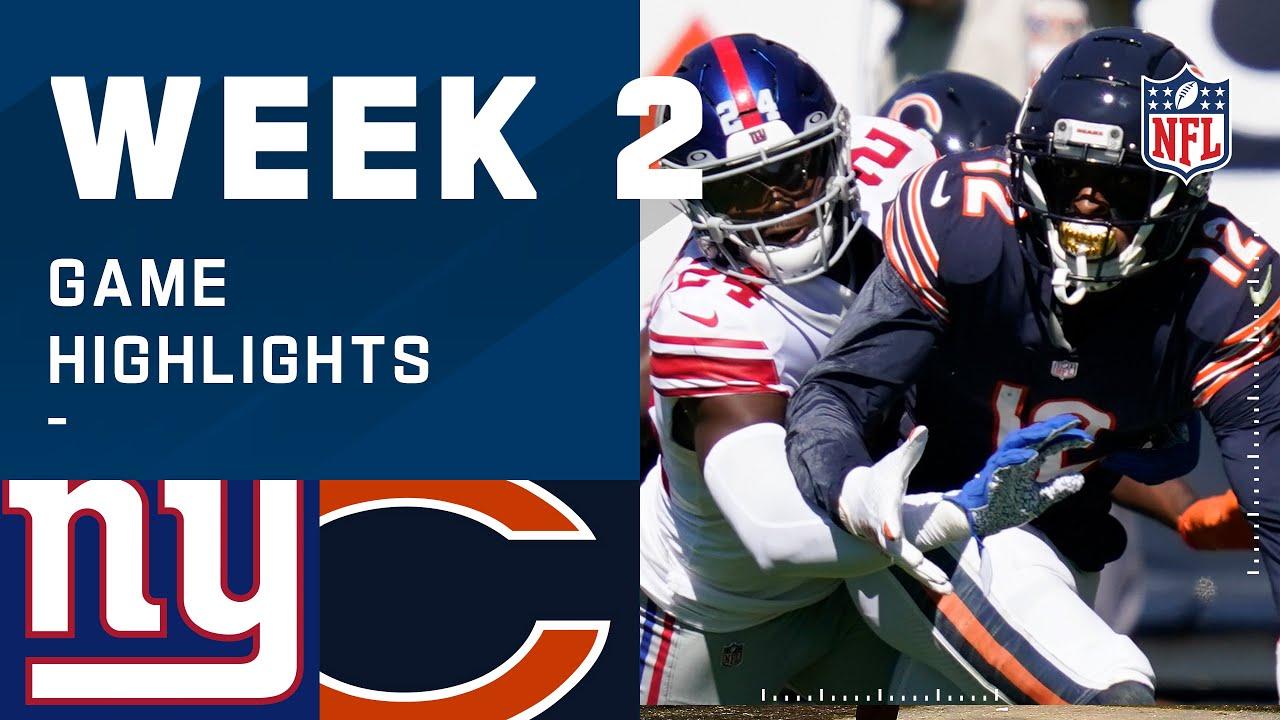 Giants vs. Bears Week 2 Highlights   NFL 2020